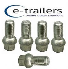 M14 TRAILER WHEEL BOLT 1.5 CONICAL REPLACE F1835ZPK IFOR WILLIAMS 19mm HEAD x 5